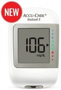 Accu-Chek Instant S Glucometer with 10 Test Strips