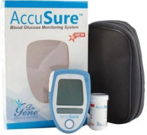 AccuSure Blood Glucose Monitoring System with 25 Test Strips, best sugar testing machine in india