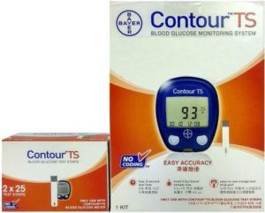 Bayer Contour TS Blood Glucometer Combo, 50 Strips