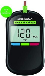 Best Glucomenter, OneTouch Select Plus Simple Glucometer with 10 Strips