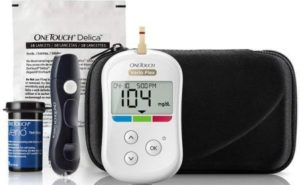 OneTouch Verio Flex Blood Glucose Meter with Box of 10 Test Strips, Best Glucometer for Home Use