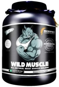 DREXSPORT - Wild Muscle - All Natural Muscle Mass Gainer - Whey Protein Powder + Creatine + Amino Acid