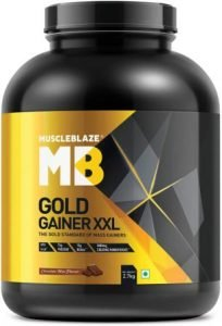 Muscleblaze Gold Gainer XXL with 890 Calories + 75g Protein + 13g BCAA, Best Weight Gainer in India