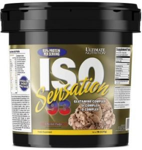 Ultimate Nutrition ISO Sensation 93 Whey Isolate Protein Powder