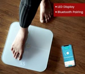Actofit Body Fat Analyser Smart Scale with Complete Digital Composition Monitor with bluetooth and artificial intelligence measures BMI