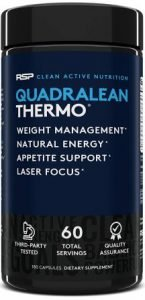 RSP Nutrition QuadraLean Thermogenic Fat Burner, Metabolism Energy and Focus Booster