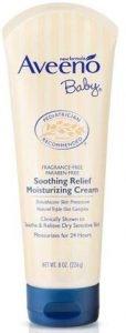 Aveeno Baby Soothing Relief Moisture Cream Fragrance-Free Best Baby Cream