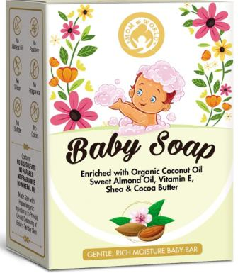 Mom & World Natural Baby Soap Enriched With Organic Coconut Oil