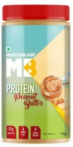MuscleBlaze High Protein with Whey Protein, Best Peanut Butter in India