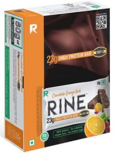 RINE Bars High Protein Sugar Free Bars for Workout & Snacks