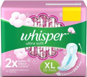 Whisper Ultra Soft XL Best Sanitary Pads in India