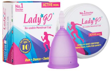Lady Go Reusable Menstrual Cup - Active Model