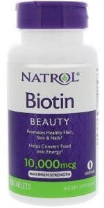 Natrol Biotin Supplements 10000 mcg Tablet