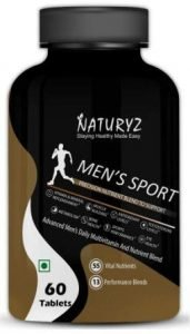 Naturyz Men's Sport Multivitamin With 55 Vital Nutrients & 13 Performance Blends Consisting - 60 Tablets, Best Multivitamin for Men