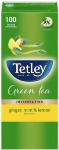 Tetley Green Tea with Ginger Mint & Lemon