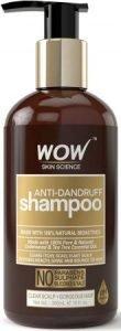 WOW Anti Dandruff No Parabens & Sulphate women Shampoo