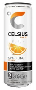 CELSIUS Sparkling Orange Fitness Drink, Zero Sugar