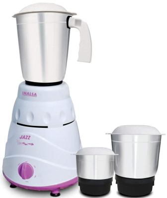 Inalsa Jazz Mixer Grinder, 550W, 3 Jars