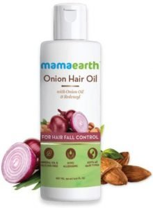 mamaearth onion hair oil for Hair Growth and Hair Fall Control