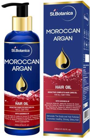 StBotanica Moroccan Argan Hair Oil (With Pure Argan, Jojoba, Almond, Castor, Olive, Avocado, Rosemary Oils)