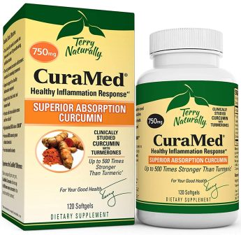 Terry Naturally CuraMed 750 mg - 120 Softgels - Superior Absorption BCM-95 Curcumin Supplement with Turmeric, Promotes Healthy Inflammation Response