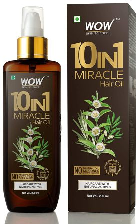 WOW 10 in1 Miracle No Parabens & Mineral Oil Hair Oil with with Argan Oil