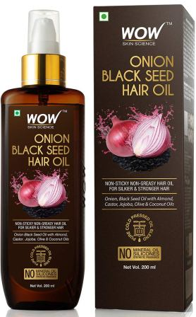 WOW Skin Science Onion Black Seed Hair Oil - Controls Hair Fall - No Mineral Oil & Silicones