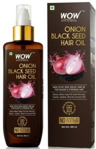 WOW Onion Hair Oil, Onion Black Seed Hair Oil with Vitamin E