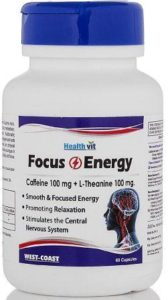 Healthvit Focus and Energy Caffeine 100 Mg & L-theanine 100 M