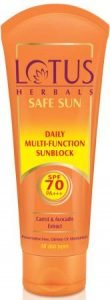 Lotus Herbals Safe Sun Daily Multi Function Sunblock SPF-70