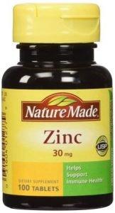 Nature Made Zinc 30mg Tabs