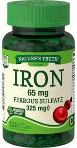 Natures Truth Ferrous Sulfate Iron tablets