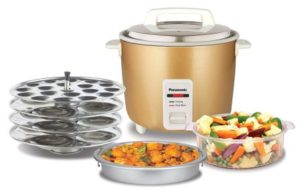 Panasonic SRWA18GHCMB electric Rice Cooker Combo Pack, 1.8 Litre