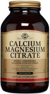 Solgar Calcium Magnesium Citrate Tablets, 250 Count
