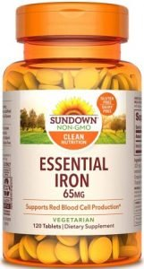 Sundown Naturals Iron Ferrous Sulfate Tablets