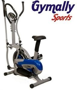 Gymally Sports 4 in-1 Exercise Orbitrek-Steel Wheel with Seat and Pulse Stand