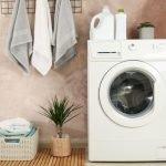 Inverter Wahing Machine in Laundry Room