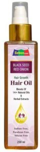 SebonCare Black Seed Onion Hair Oil for Hair Growth Enrich with Kalonji, Bhrahmi, Amla, Kapoor kachli, Bhangro, Nagarmoth, Nagod