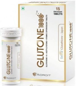 Glutone L-Glutathione 1000mg with Vitamin C 60mg Effervescent Tablets