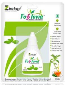 Zindagi Fosstevia Liquid Natural Stevia Liquid Drops – Sugar-Free