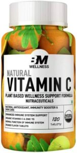 Bigmuscles Nutrition Natural Vitamin C and Zinc Tablets