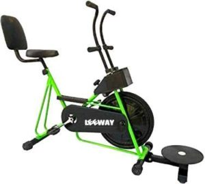 Leeway Exercise Cycle with Back Support & Fix Handle Gym Bike for Weight Loss and Home Use