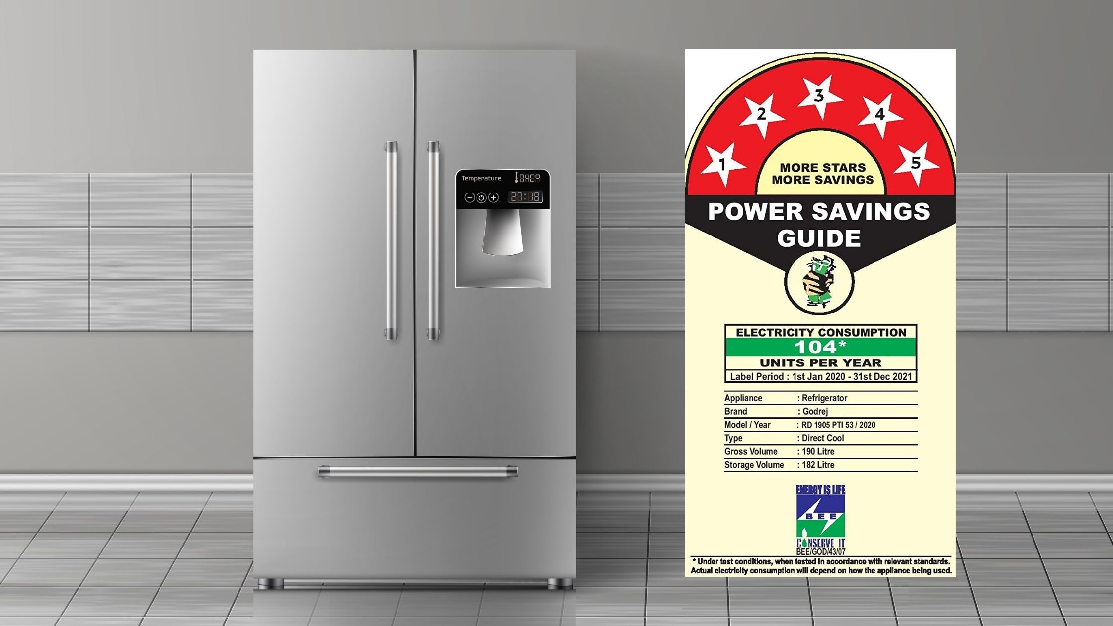 Refrigerator Power Consumption According to BEE Star Ratings