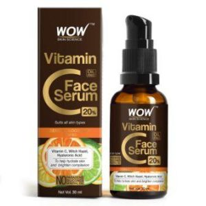 WOW Skin Science Vitamin C Serum with Hyaluronic Acid Facial Serum