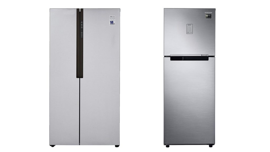 Comparison between a standard and an inverter compressor in a refrigerator