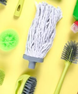 Steps to follow to clean your mop head